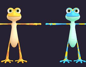 Asset - Cartoons - Character - Lizard - Hight 3D model