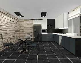minimalist Modern kitchen 3D model