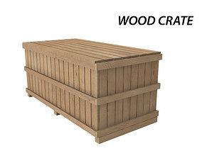 3D model Wood Crate industrial