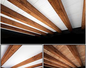 3D model Wooden Ceiling Set 1