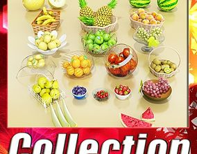 Photorealistic Fruits Basket Collection 3D