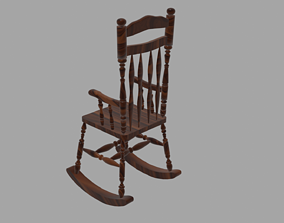3D model simple rocking chair
