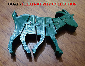 3D print model Flexi Goat and Rooster- Nativity 4