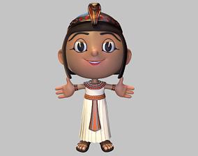Ancient egyptian girl 3D