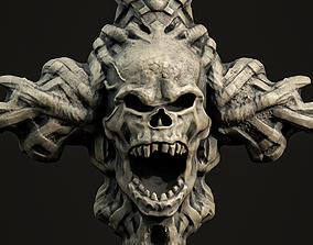 Skull cross Pendant 3d print model 14 sculpture