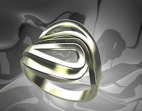 silver 3D print model Plain Light Women Ring