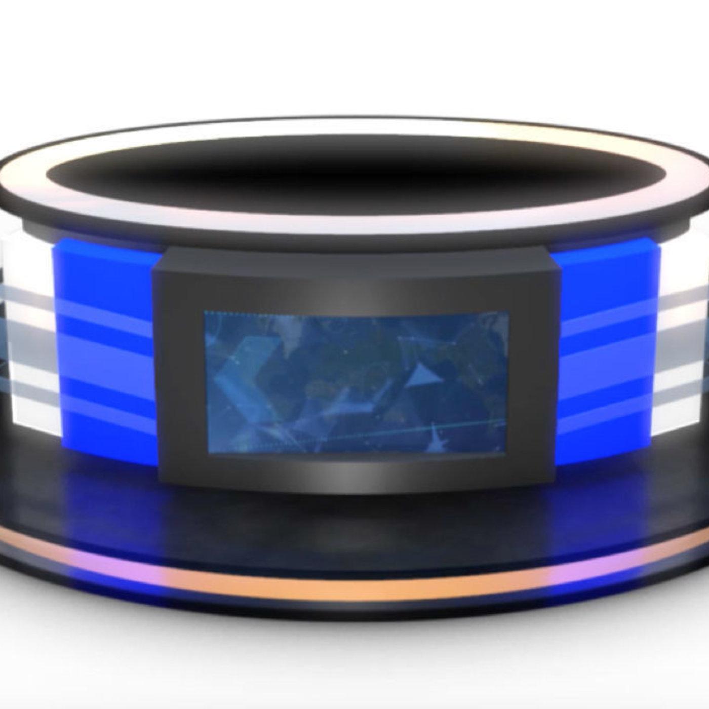 3D TV Studio News Desk 12