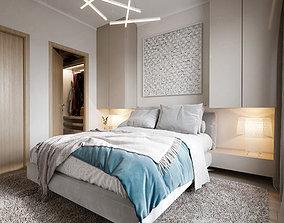 3D Master bedroom scene