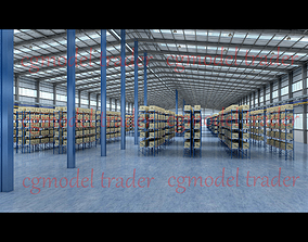 Factory warehouse 3D model low-poly
