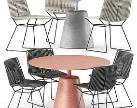 3D NEIL TWIST CHAIR and ROCK TABLE by Mdf Italia