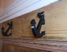 3D print model Anchor Coat Hooks - snap fit modular - 2