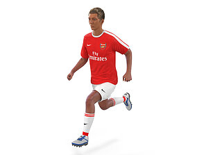 Soccer Player Arsenal Rigged 2 3D Model rigged