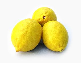 Lemon and leaf 3D model