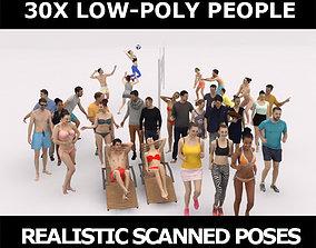 3D asset 30x PEOPLE SPORT SPORTS BEACH SUMMER CASUAL 1
