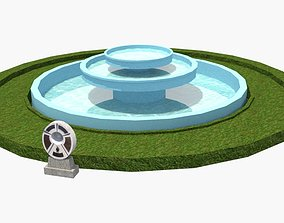 May 18 Democracy Plaza fountain and a memorial 3D model