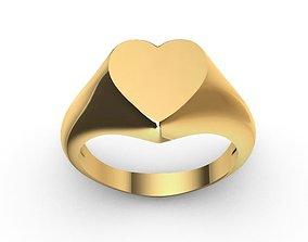 3D print model jewel Heart signet ring