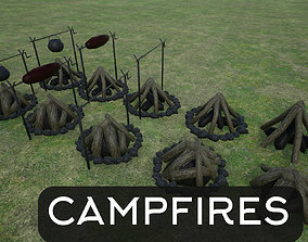 3D model Lowpoly Campfires
