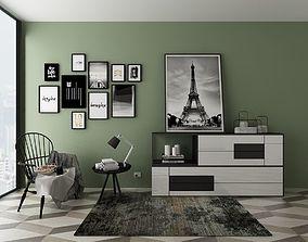 interior-scene Furniture set 3D model