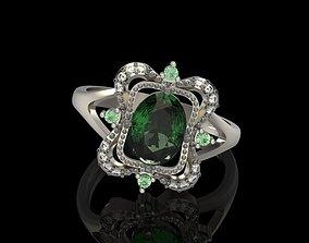 3D print model Design ring with gems 8