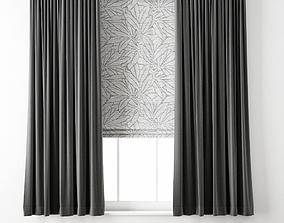 Curtain 74 3D model roman