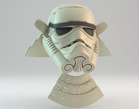 3D printable model Ashigaru Samurai Stormtrooper Helmet