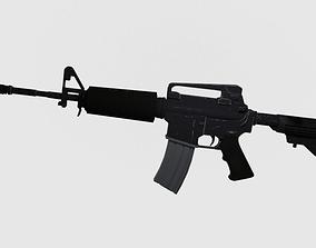 low-poly M4A1 Assault Rifle Carabine 3D model