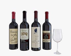 Wine bottle kitchen 3D