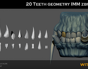 3D model 20 TEETH imm ZBRUSH Brush Shapes for OTHER 2