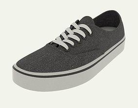 3D model Black shoes vans trainer