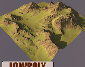 Lowpoly Mountain 3D model realtime