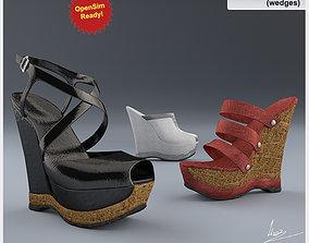 Shoes-11 wedges 3D asset