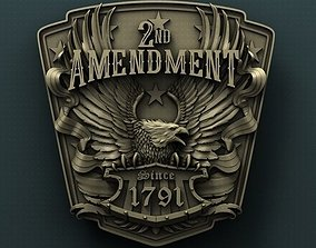 Second amendment 3d stl model