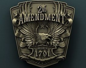 Second amendment 3d stl model