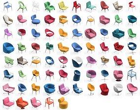 Armchair Modern Collection 90x 3D
