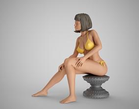 3D printable model Girl Sitting on Stool