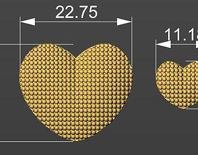 3D Heart pendant