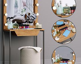 3D model Decorative set Dressing table MakeUP set
