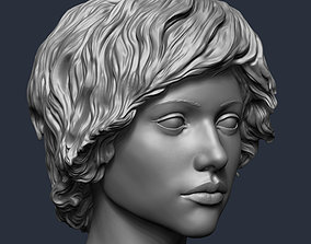 Mannequin European girl head 3D printable model