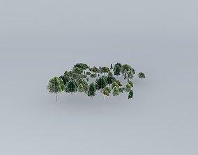 Botanic Garden Trees 02 3D model
