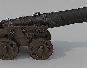 3D asset Medieval Battle Cannon