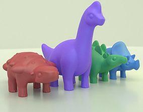 Cute dinosaurs 3D print model