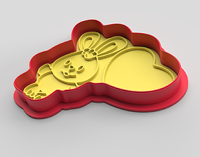 Cookie cutter and stamp - Bunny 3D printable model