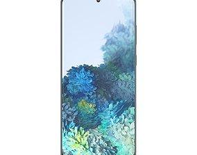 Samsung Galaxy S20 Cloud Blue 3D asset game-ready