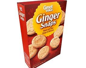 3D model Great Value Ginger Snaps 16 oz