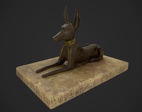 3D model Anubis jackal statue