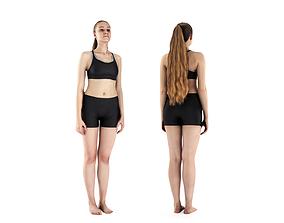 Woman in sports standing 62 3D model