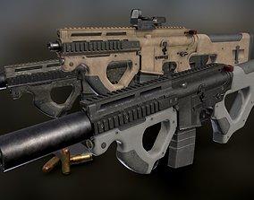 3D asset AR 15 Beowulf Hera Custom Rifle