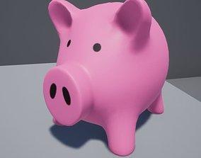 Piggy bank gold 3D model