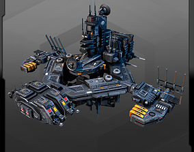 3D asset Military Station outpost MS4
