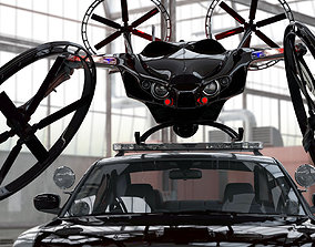 3D model Polic robot Fly mouse drone